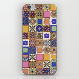 Hand Drawn Floral Patchwork iPhone Skin