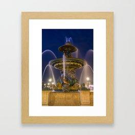 Fountain place de la Concorde Paris Framed Art Print