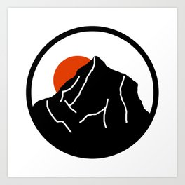 blood mountain Art Print