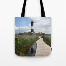 Fire Island Light With Reflection - Long Island Tote Bag