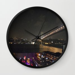Istanbul Lights! Wall Clock