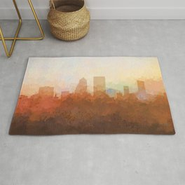 Jacksonville, Florida Skyline - In the Clouds Rug