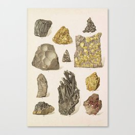 Vintage Gold Minerals Leinwanddruck