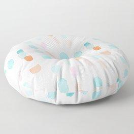 Watercolor Marks Floor Pillow