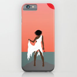 Aboriginal Girl and Rose iPhone Case