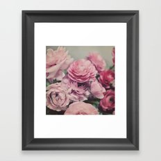 quiet ranunculus Framed Art Print