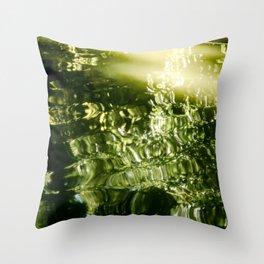 Reflecting Greens Throw Pillow
