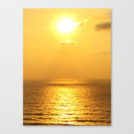 Sunset in Tel Aviv, Israel Canvas Print