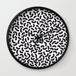 black worms Wall Clock
