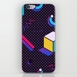 Bright Background in Neo Memphis Style iPhone Skin