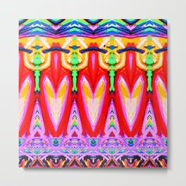 Ornamental Abstract Pattern Metal Print