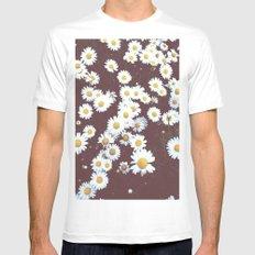 Flowers  Mens Fitted Tee MEDIUM White