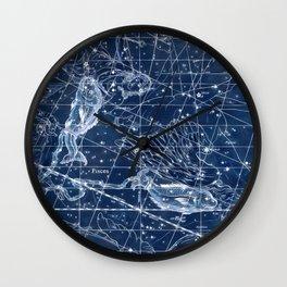 Pisces sky star map Wall Clock
