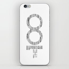 The 100 - Typography Art [black text] iPhone Skin