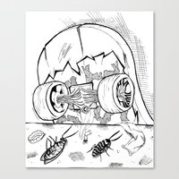 "skate Canvas Prints featuring ""Skate"" by Jorge Daszkal"