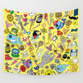 Geek Chic Megamix Yellow Wall Tapestry