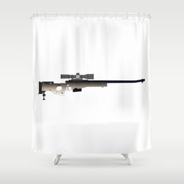 Sniper Rifle Shower Curtain