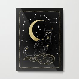 The Cat Constellation Metal Print
