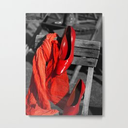 Red Accessories Metal Print