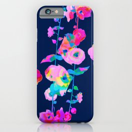 colorful hollyhock iPhone Case
