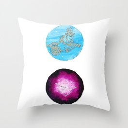 Capricorn Zodiac Astrology Painting — Astrology Zodiac Sign Capricorn Print Throw Pillow