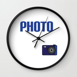 Realists Quote T-Shirt Design Photo Real Ism Wall Clock