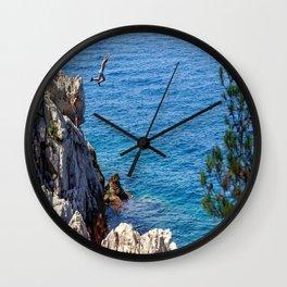 Cap Ferrat Cliff Jumpers Wall Clock