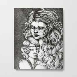 Nerdanel and little Maedhros Metal Print