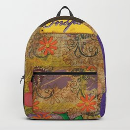 Inspire, Mixed Media Artwork Backpack