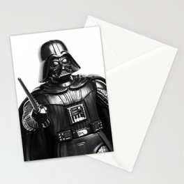 Darth Vader Black & White Photograph Stationery Cards