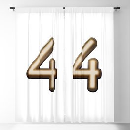 Chocolate Number 4 Blackout Curtain