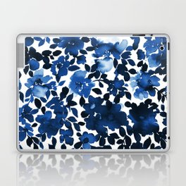 Sophia Floral Blue Laptop & iPad Skin
