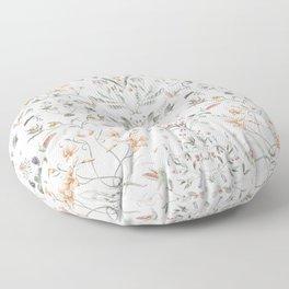 Painted Botanical Garden Floor Pillow