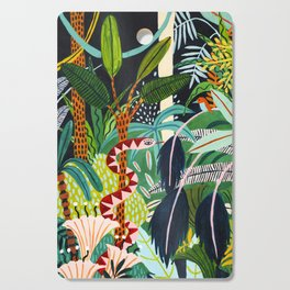 The Jungle at Midnight Cutting Board