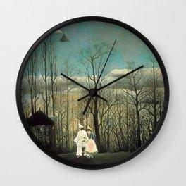 Henri Rousseau - A Carnival Evening - Une soirée au carnaval Wall Clock