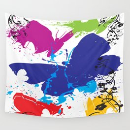 Painted Butterflies Wall Tapestry
