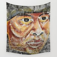 indian Wall Tapestries featuring Indian by Lia Bernini