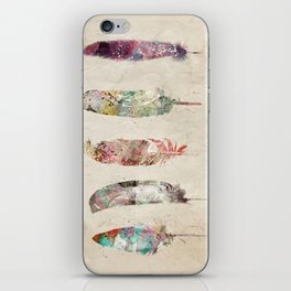 pop art feathers iPhone Skin