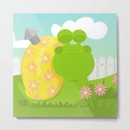 Green Snail (male) Metal Print