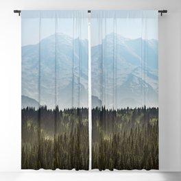 Epic Forest Mountain Adventure - Mount Rainier National Park Blackout Curtain