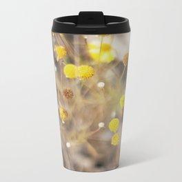 Abstract Botanical - Billy Buttons Metal Travel Mug