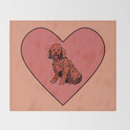 Labradoodle Illustration Throw Blanket