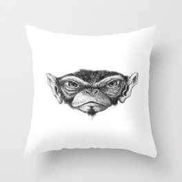 Mr. Monkey Robert Throw Pillow