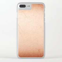 Sepia tone scratched texture abstract Clear iPhone Case