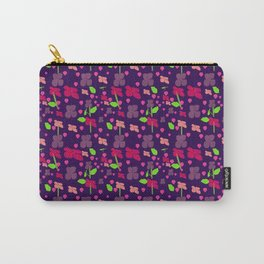 Purple Flora  Carry-All Pouch