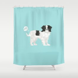 japanese chin farting dog cute funny dog gifts pure breed dogs Shower Curtain