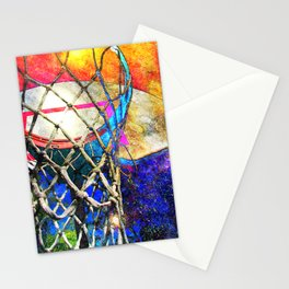 Colorful Basketball Art Stationery Cards