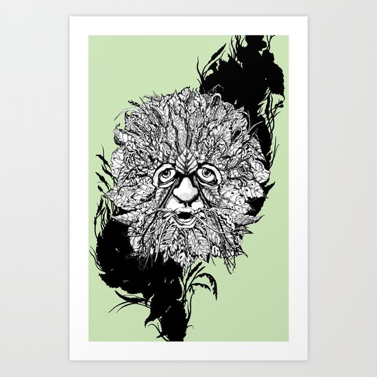the green man Art Print