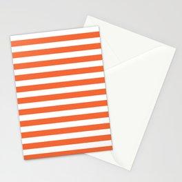 Orange and white university clemson alumni team sports football college Stationery Cards