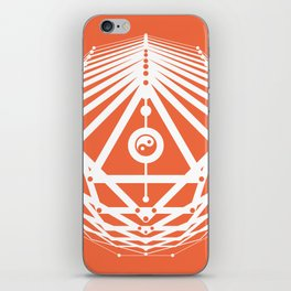Radiant Abundance (orange-white) iPhone Skin